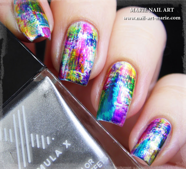 nail art dry brush infinite ombré