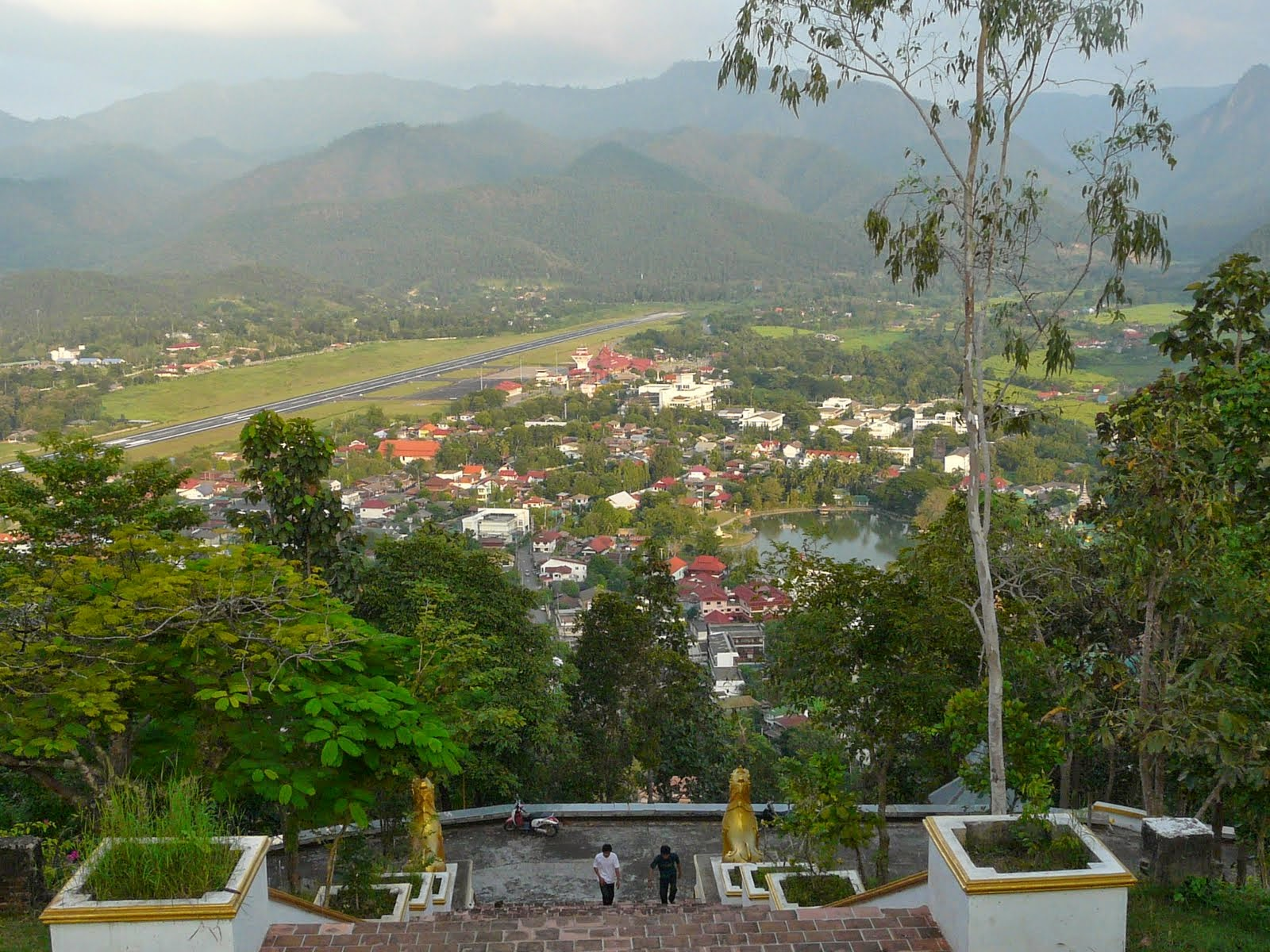 Mae Hong Son town from above