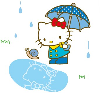 Image result for hello kitty rain