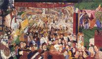 James Ensor (28 años) - La entrada de Cristo en Bruselas en 1889 (1888)