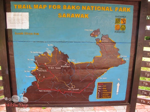 Bako NP Map and Trails - WireBliss