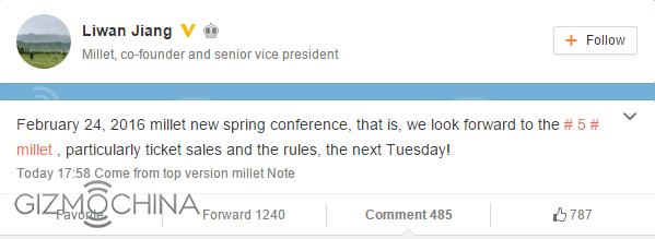 Resmi, Xiaomi MI5 akan resmi diperkenalkan tanggal 24 Februari