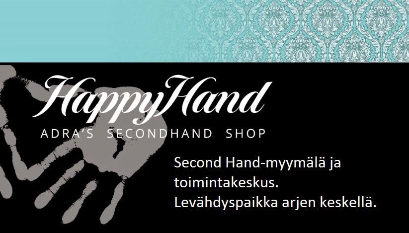 HappyHand. Second Hand-myymälä ja toimintakeskus.