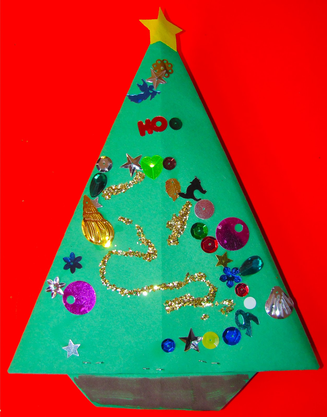 the chocolate muffin tree origami christmas trees