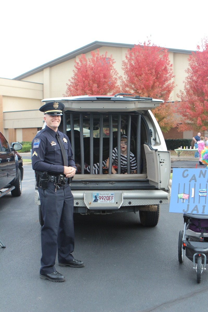 Trunk or Treat Idea Jail with Real Cop
