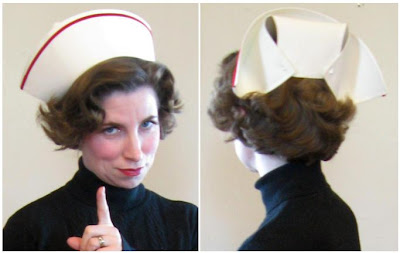 how to make a paper nurse hat