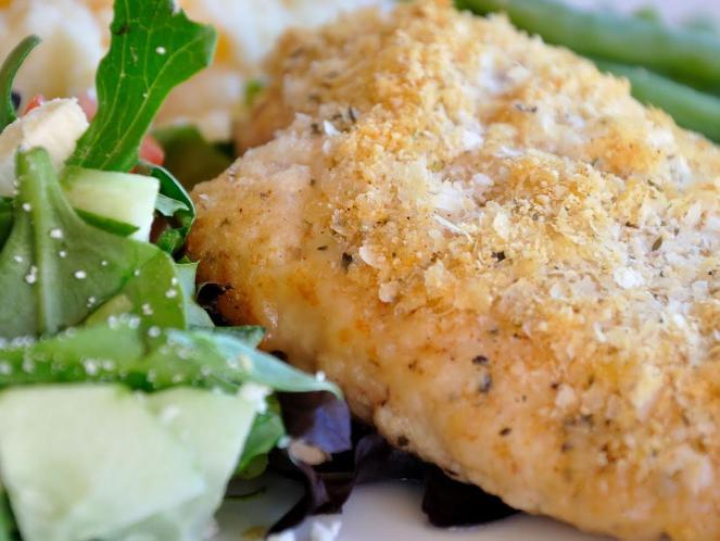Crispy Baked Chicken Breasts Recipe — Dishmaps