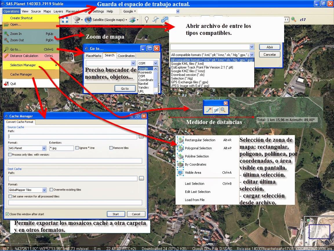 Cartografía Digital: SASPlanet: configuraciones y regalo.