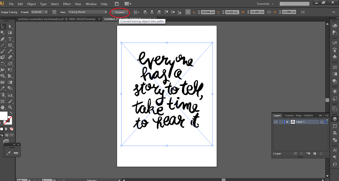 Como vectorizar en adobe illustrator