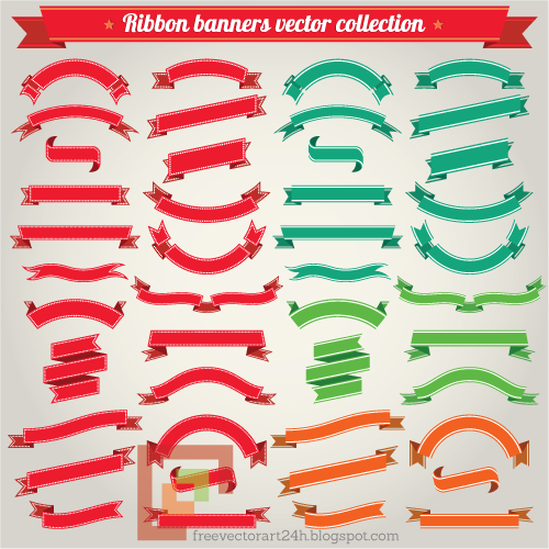 [Vector] Ribbon banner collection