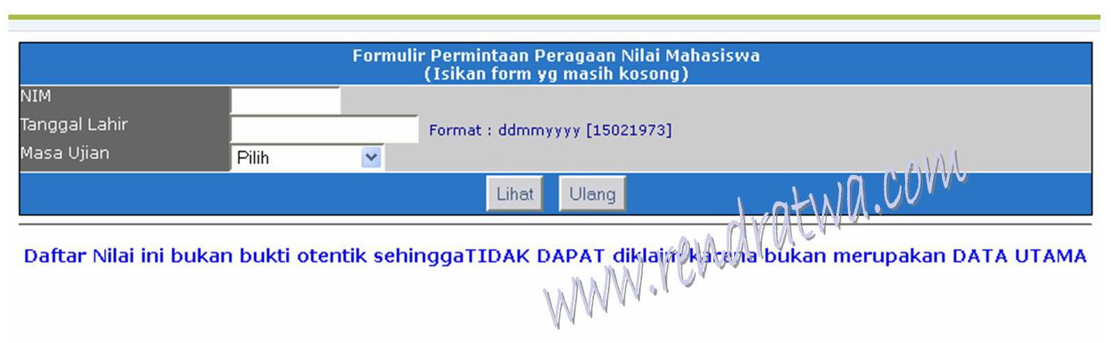 Akses dan Lihat Nilai UT di www.ut.ac.id | Nilai Pendas dan Non Pendas ...
