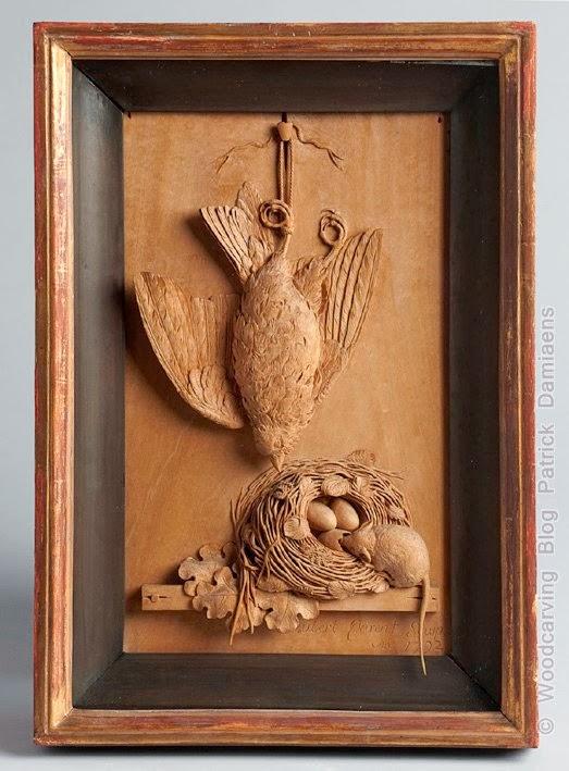 Ornamentsnijder patrick damiaens een paneel van aubert