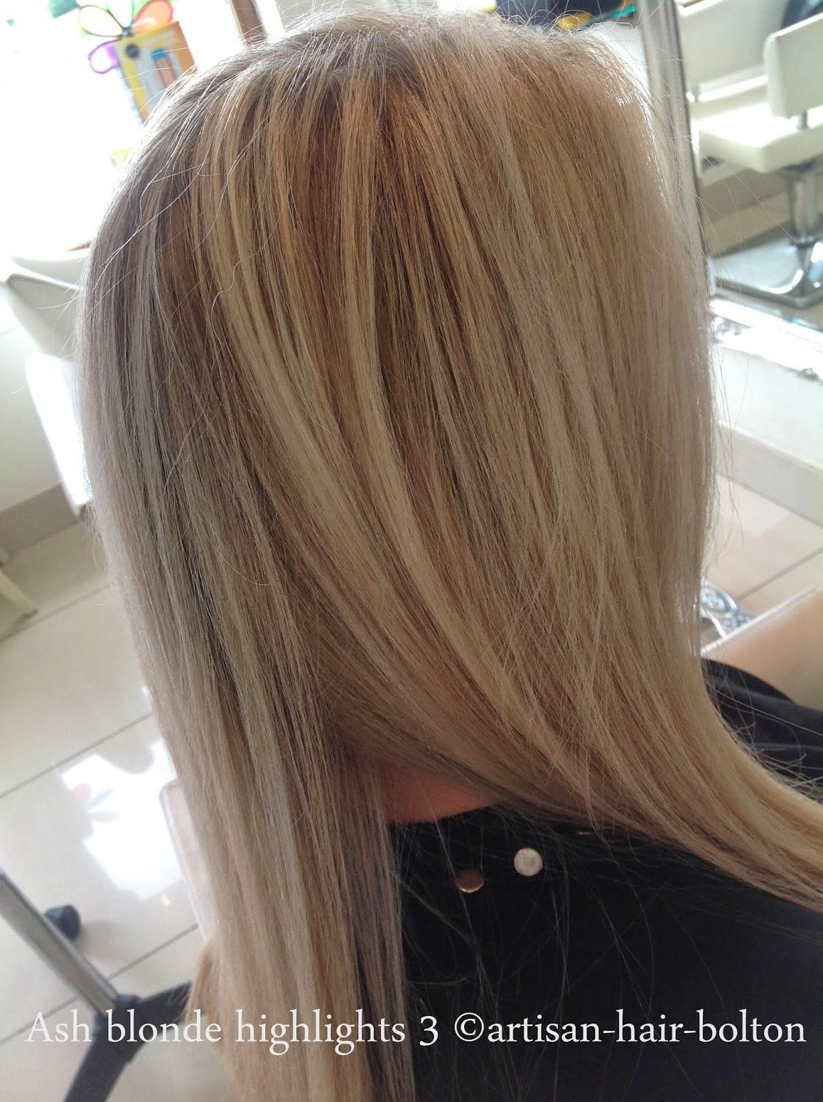 Artisan hair bolton blog colour ash blonde highlights