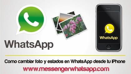 Como cambiar la foto y los estados en WhatsApp desde tu iPhone