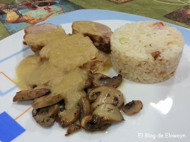Solomillo De Cerdo Con Salsa De Manzana