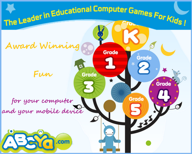 The games are organized by grade level when you click on a grade