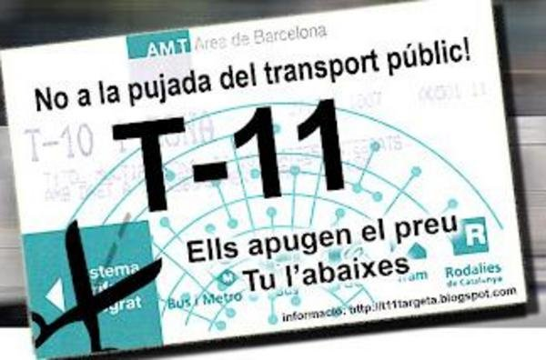 T-11. Tarjeta transporte pblico de Barcelona