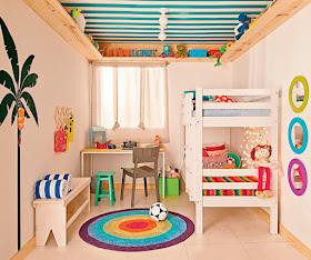 Fotos de dormitorios dormitorio peque o para ni o y ni a for Dormitorios pequenos para ninos
