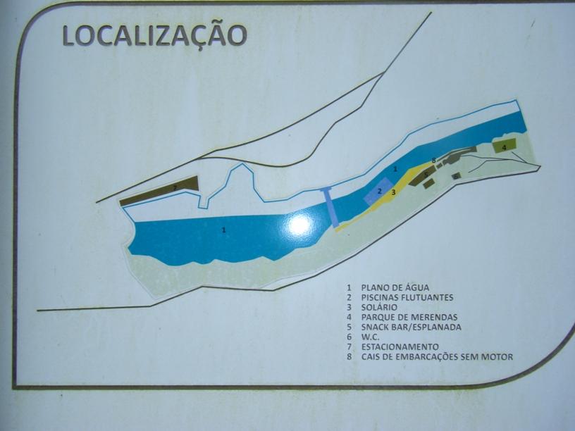 Plano da Zona da praia Fluvial
