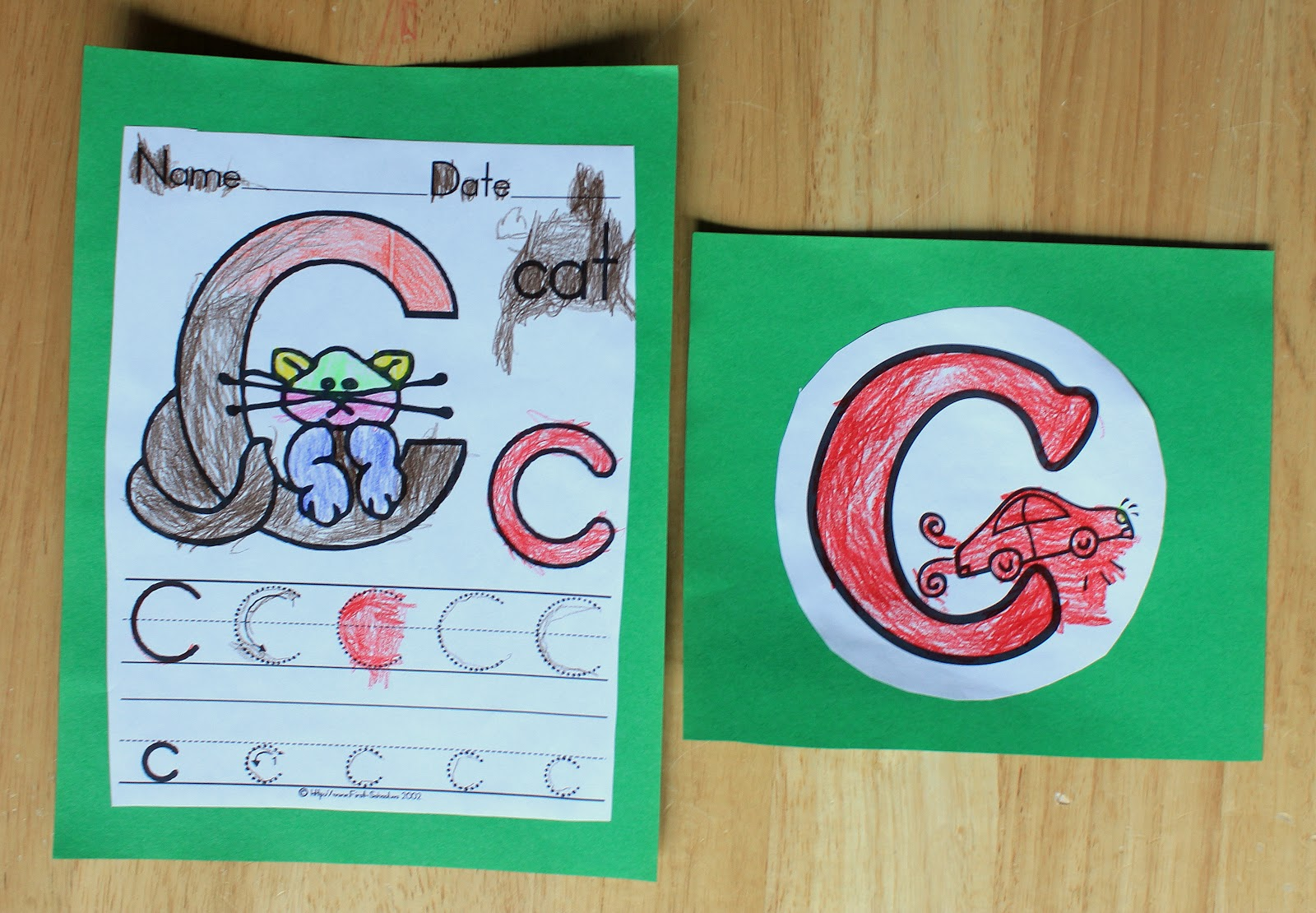 The Art of Being Mama Alphabet Time C is for Cats Cupcakes – First School Worksheets
