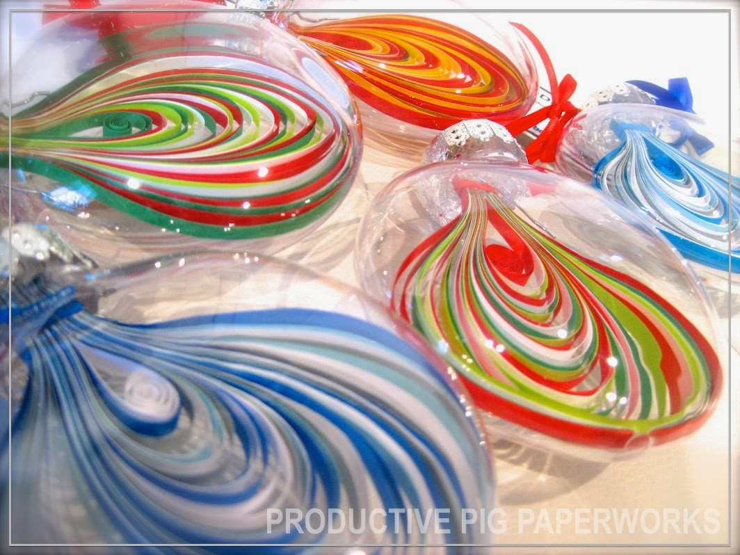 ... Pig Paperworks: Colorful Paper Quilling in Disc Clear Ornaments