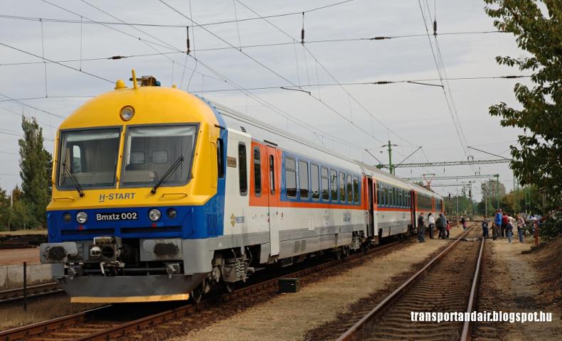 A MÁV BVmot sorozatú,Szent István nevű motorvonata,Rákoshegyen www.transportandair.blogspot.hu