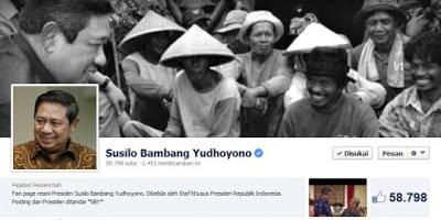 Nama Akun Facebook Milik Presiden SBY