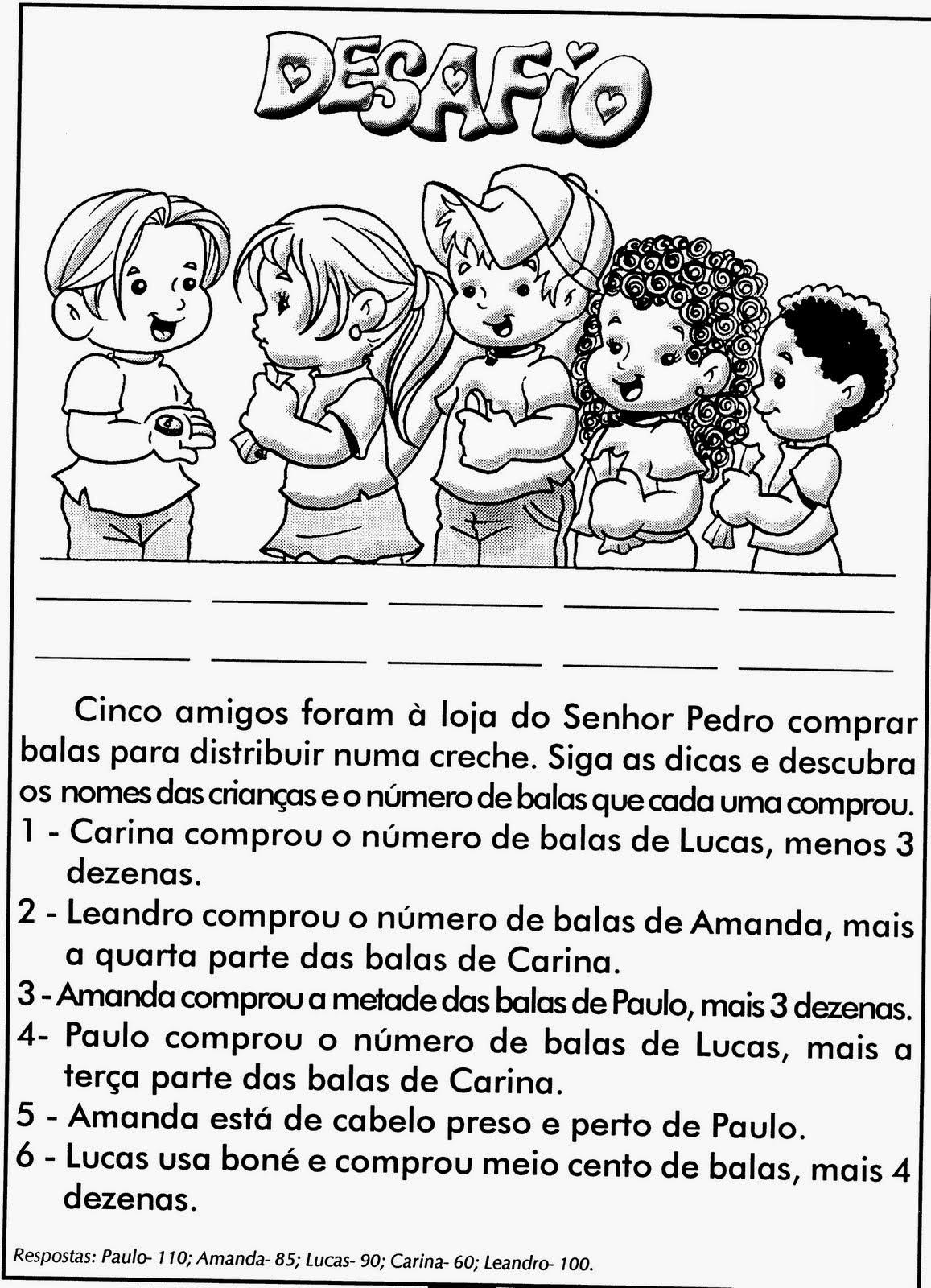 Well-known Atividades de Matemática Problemas | Viver de Educar CL55