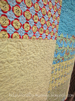 Playtime, back view showing quilting texture