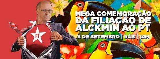 Comemorar a filiação de Alckmin