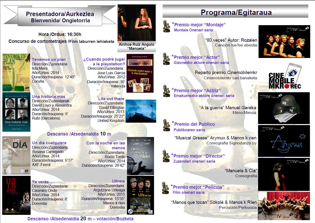 IV Festival de Arte en Signos - 3 de octubre, San Sebastián. FOLLETO%2BIV%2BFESTIVAL%2B2015