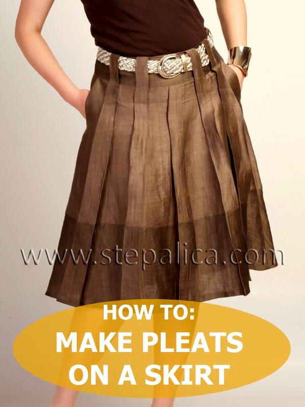 Zlata skirt sewalong: #7 Pleat the skirt