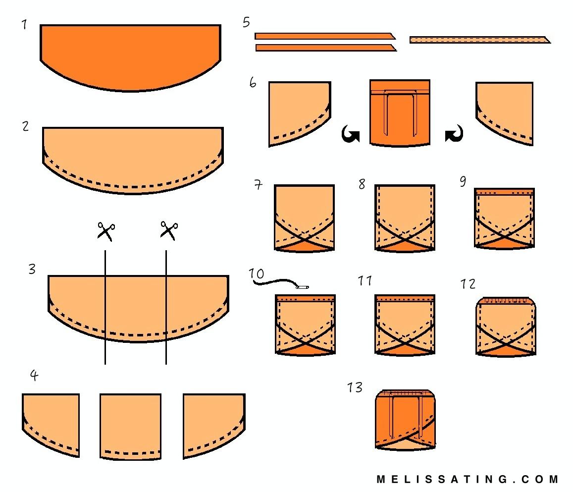 DIY Wrap Skirt With Tie Waist Tutorial - Melissa Ting