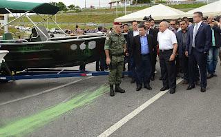 Combate a crimes na fronteira do Estado ganha reforço com novos equipamentos, entregues pelo governador José Melo