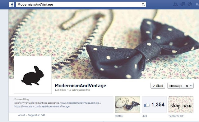 ModernismAndVintage, cute vintage accessories, chic vintage jewelry, facebook page