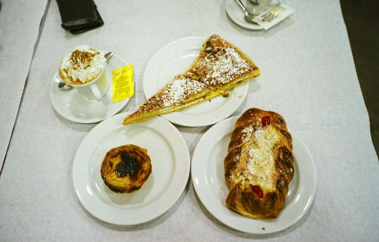 Portugese egg tart pastries Lisbon Lisboa Portugal