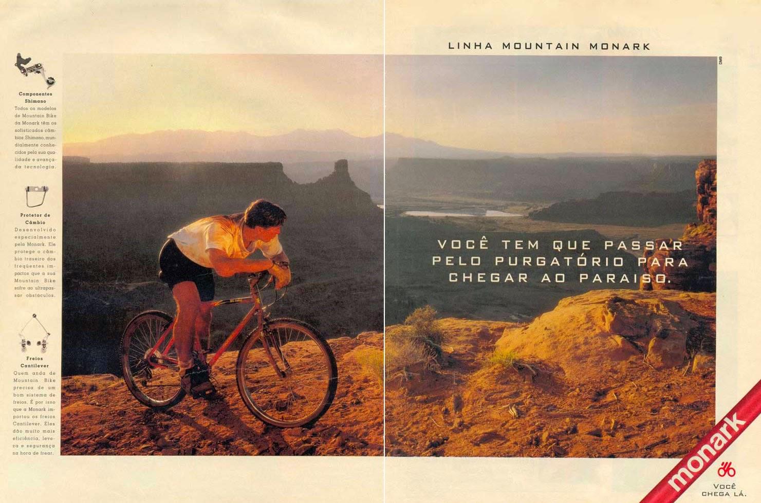 Propaganda da Linha Mountain da Monark, apresentada em 1993.