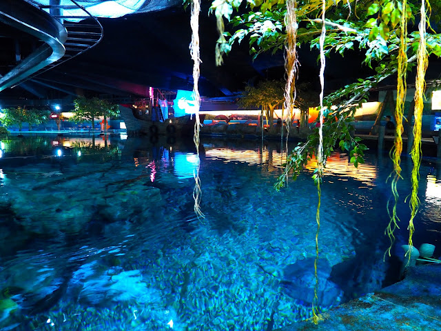 Interior of Shark Mystique exhibit in Ocean Park, Hong Kong
