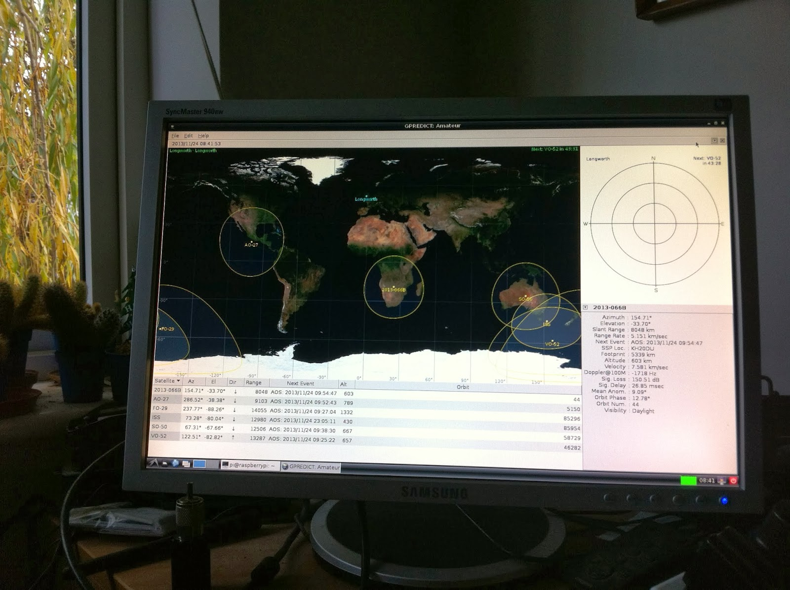 Using the Raspberry Pi and GPredict software to track Funcube-1 (or