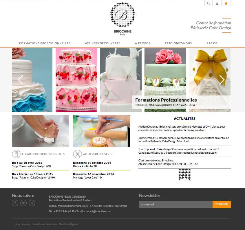 Briochine Marion Delaunay Cake Design formation professionnelle pâtisserie Paris DIF financement Le meilleur pâtissier