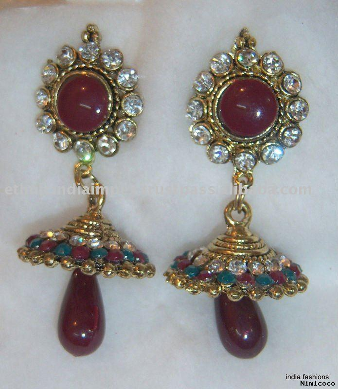 SHE FASHION CLUB: Jhumka Earrings In Gold Designs