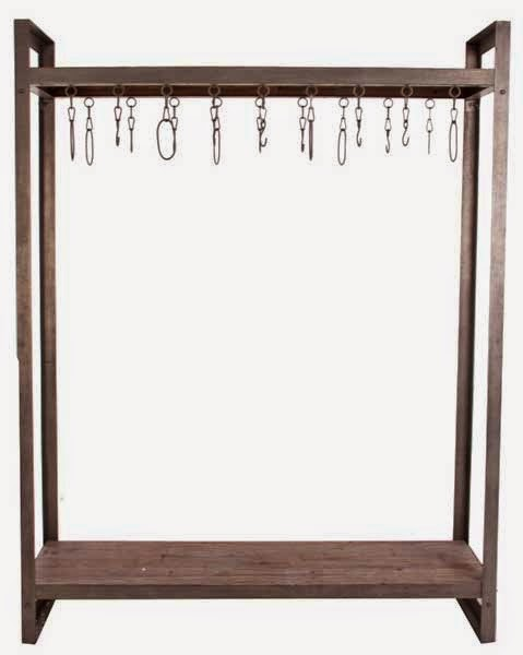 Mueble perchero madera metal