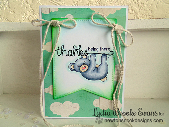 Thank you Koala Card by Lydia Brooke for Newton's Nook Designs | Hanging Around & Simply Sentimental Stamp Sets