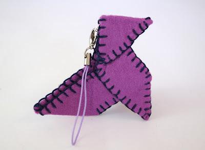 origami cocotte feutrine porte clés