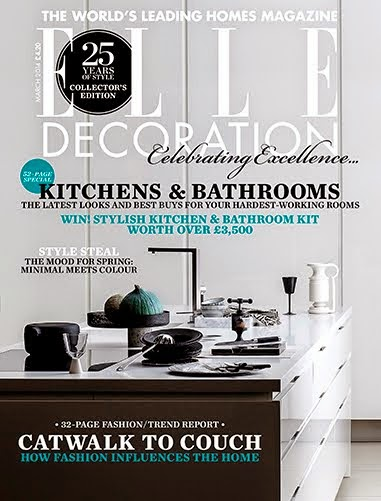 "my ""blacks"" on cover of elle deco march issue 2014"