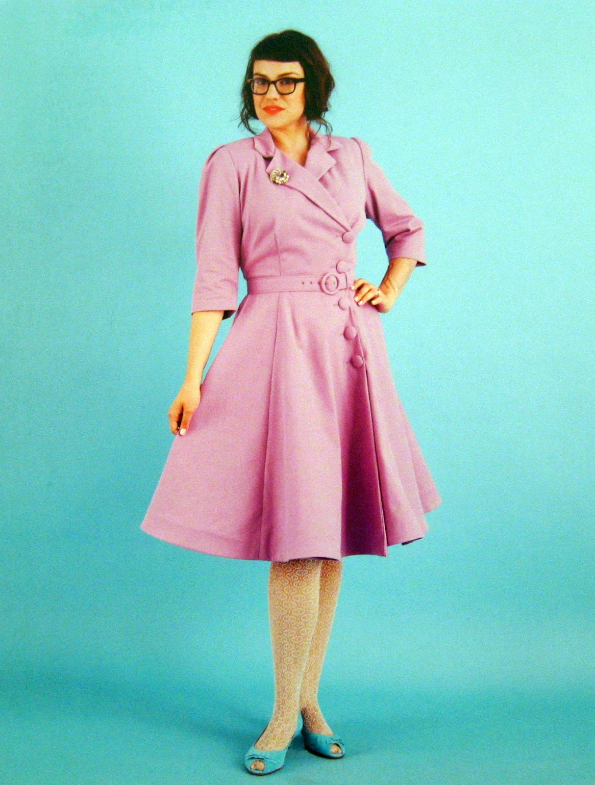 QuirkyPrettyCute: Bright Pink Coat from Gertie