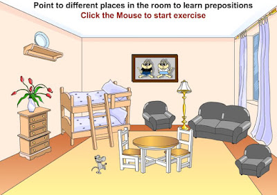 The family and parts of the house - Tot English Where S The Mouse Prepositions Of Place Game