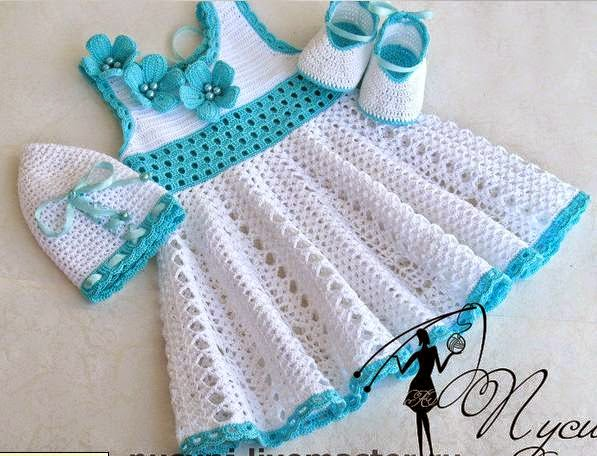 Muito As Receitas de Crochê: Vestido de crochê para menina SG96