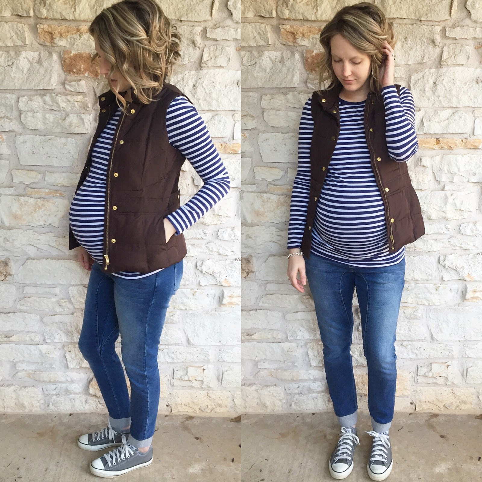 Top 5 favorite maternity outfits jesse coulter top gap vest belk jeans cotton on non maternity shoes converse ombrellifo Image collections