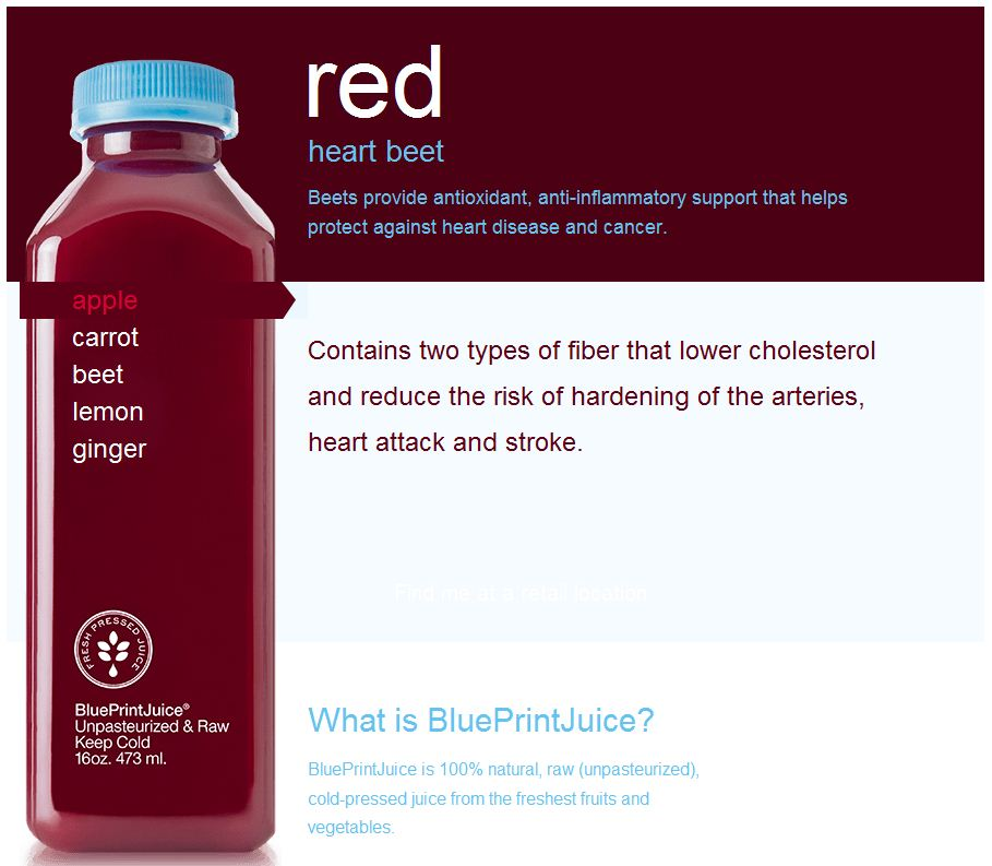 Wellness quest my first raw food experience blueprint juice ill admit that i didnt even realize that blueprint juices red was even a raw unpasteurized food product until i was 13 in the middle of drinking it malvernweather Images